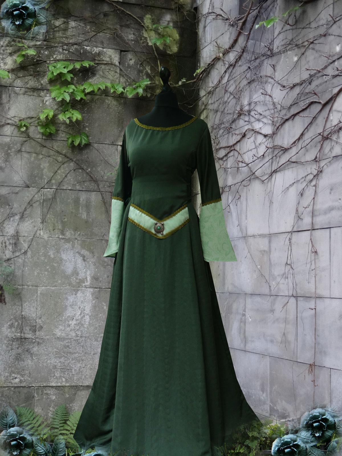 Waldelfenkleid türkis grün Elfengewandung Elfenkleid Mittelaltergewand