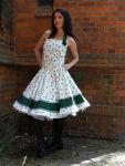 Petticoatkleid 50er Blumentraum & handgefertigt mit...