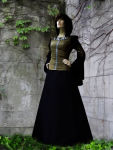 "Schildmaidkleid ""Elanjore"" Mittelalter Kleid Larp"