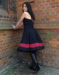 Petticoat  Rockabilly Dots 50er Jahre Punkte rot schwarz