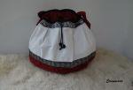 Mittelalter Tasche Ballonschnitt mit Ornamentborte