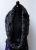 Wollstrickschal Bolero grau/schwarz Filzblume