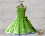 Petticoat Kleid 60er Jahre Punkte hellgrün...