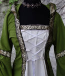 "Mittelalter Gewand ""Lordräa"" Larp Mittelalter Grün Weiß"