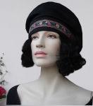 Mittelalter Mütze Haube mit toller Blumenborte