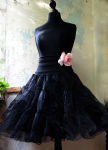 Petticoat Tüll Unterrock schwarz und doppellagig