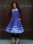 Bolero kurz weinrot für Petticoat Kleider