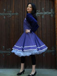 Bolero kurz lila für Petticoat Kleider