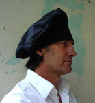 Mittelalter Mütze schwarz Recken Vagabunden