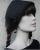 Romantische Mittelalterhaube dunkelbraun mit Schnecken