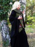 Filzweste Wollweste Lagenlook grün & blumig
