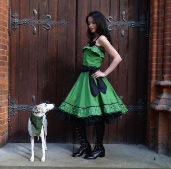 6ae2e31df69f1f Romantik Volant Kleid Petticoat Tanzkleid Grün, 129,00 €