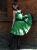 Romantik Volant Kleid Petticoat Tanzkleid Grün