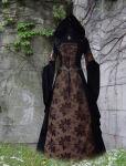 "Blätter Mittelalter Kleid ""Magali"" mit Kapuze Steampunk"