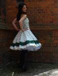 Petticoatkleid 50er Blumentraum & handgefertigt Gr....