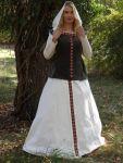 """Elfenkleid """"Alya"""" Mittelalterkleid Samt Wams Brautkleid Kapuze"""