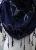 Dreieckstuch schwarz grau Borte & Filzblume