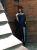 Mittelalter Tunika Waffenrock  blau schwarz