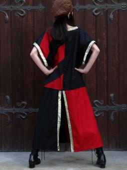 Mittelalter Tunika Waffenrock rot schwarz