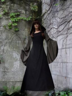 """Gothik Mittelalter-Kleid """"Jolanda"""" Gugelkapuze Schürze Wunschgröße"""
