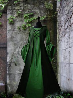 "Schürzen Mittelalterkleid ""Maarja"" Grüntöne Gugel"