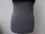 Cacheur & Armstulpen grau schwarz gestreift