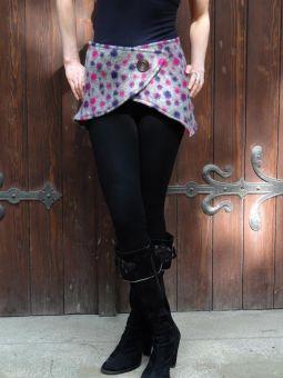 Cacheur Hüftrock Wolle rosa grau