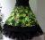 Romantik Rock Grüne Blumen Doppelrock