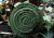 Filzblüte Wollblüte Lagenlook Ansteckblüte grün