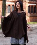 Fleece Umhang Ethno Poncho Mittelalter Folklore