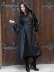 Romantik Gothik Kapuzenkleid Wadenlang Kapuze