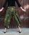 Yogahose Aladinhose Ethno Muster grün