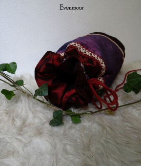 Mittelalterbeutel Lila Rot Geldkatze Tasche Mittelalter