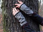 Romantik Armstulpen Schwarz Grau Beere