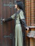 """Mittelalterkleid """"Griet"""" braun beige enge Ärmel"""