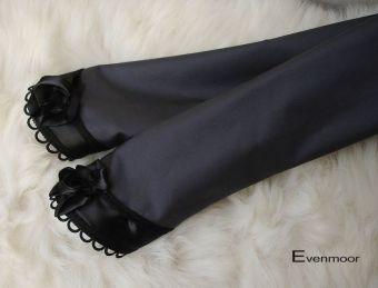 Edle Gothic Stulpen Rosenstulpen grau schwarz