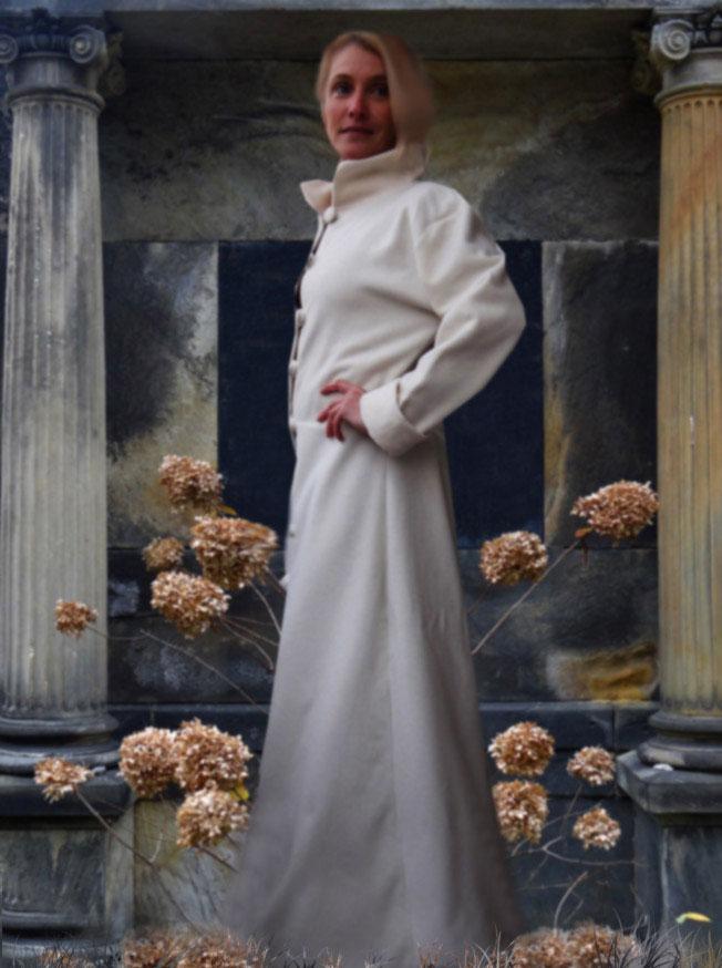Hochzeitsmantel Brautmantel Wollmantel weiß Mantel Mittelalter