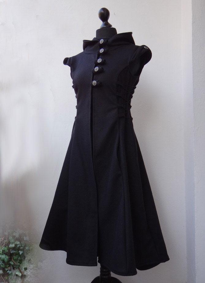 Uniform Wollweste Weste Mittelalterstil Kapuzenweste Kapuzenmantel