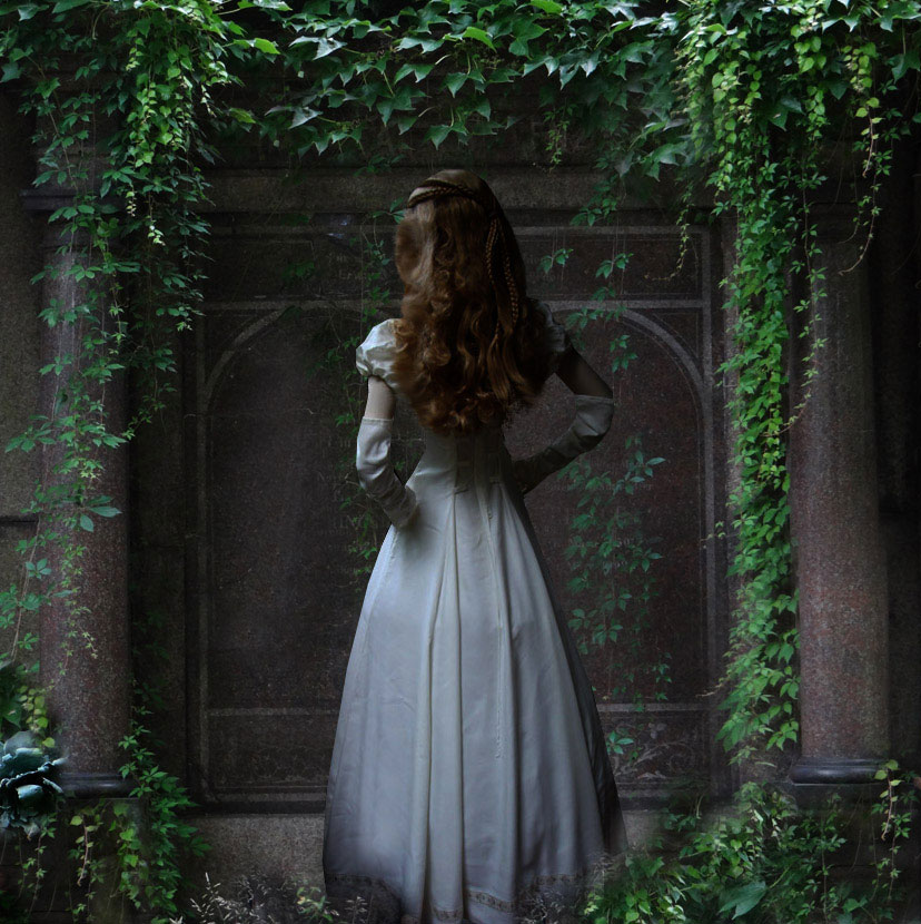 Elfenkleid Brautkleid Elfen Kleid Silberborte Hochzeitskleid