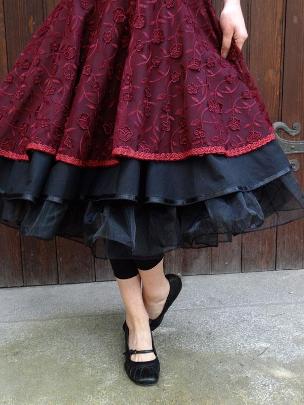 Petticoat Petticoatkleid 50er Jahre 60er Jahr Rockabilly Swing Abiball Tanzkleid bestickte Stiefel